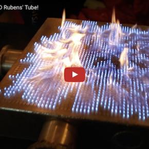 Pyro Board: 2D Rubens' Tube